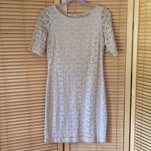Banana Republic Lace, lined, cream dress Size 2